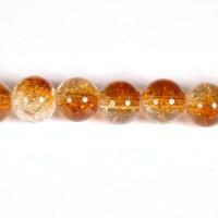 Daužto stiklo karoliukai 10 mm, rudos sp. 69 vnt.