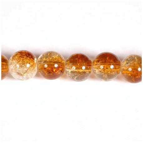 Daužto stiklo karoliukai 10 mm, rudos sp. vėrinys