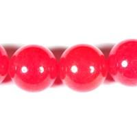 Nefritas raudonas apvalus 14 mm