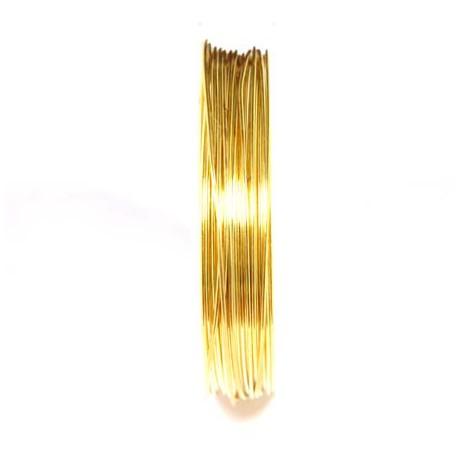 Varinė vielutė aukso sp. 0,8 mm - 5,3 metrai