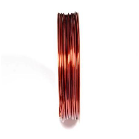 Varinė vielutė rudos sp. 0,8 mm - 5,3 metrai