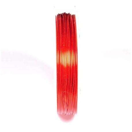 Varinė vielutė raudonos sp. 0,6 mm - 7,6 metrai