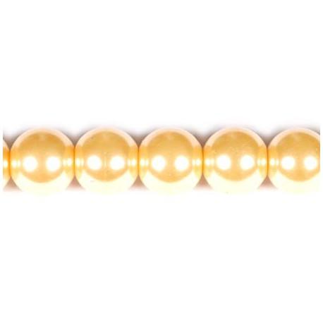 Stikliniai perlai aukso sp. 6 mm vėrinys 40 cm