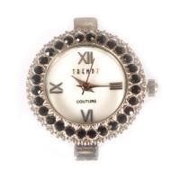 Laikrodis su swarovski kristalais jet