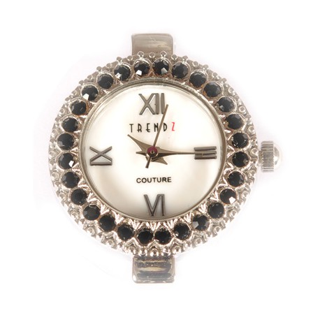 Laikrodis su swarovski kristalais jet, 1 vnt.