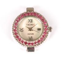Laikrodis su swarovski kristalais rose