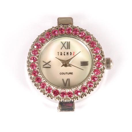Laikrodis su swarovski kristalais rose, 1 vnt.
