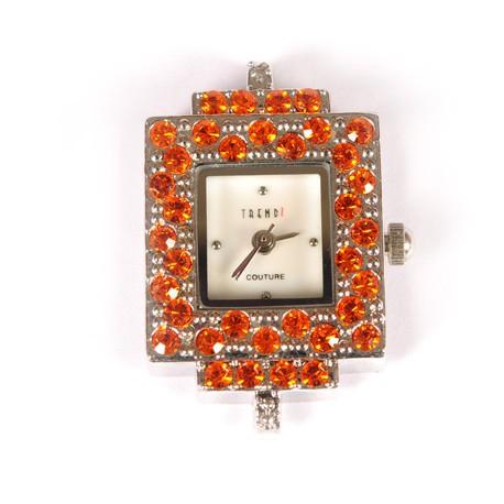 Laikrodis su swarovski kristalais orange