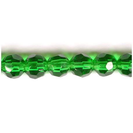 Stikliniai karoliukai 6 mm (žalios sp.) - vėrinys (29 cm)