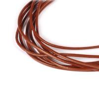 Natūralios odos dirželis, rudas 1mm - 1 metras