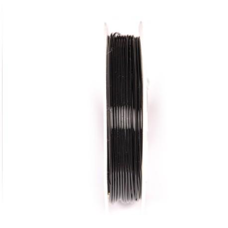Varinė vielutė juodos sp. 0,8 mm - 5,3 metrai