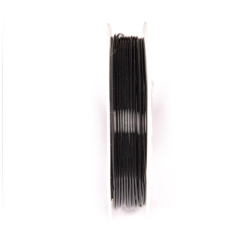 Varinė vielutė juodos sp. 1 mm - 3,8 metrai