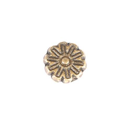 Intarpas gėlė antik. bronz. sp. 6 mm - 10 vnt
