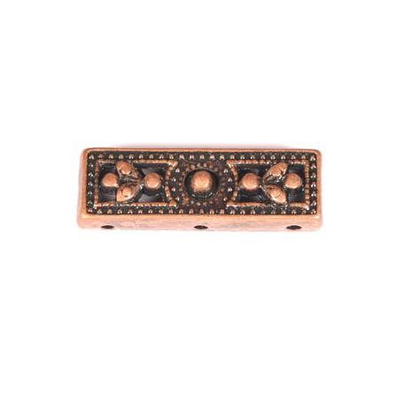 Paskirst. 3 eilių antik. raud. bronz. sp. 8x25 mm, 1 vnt.