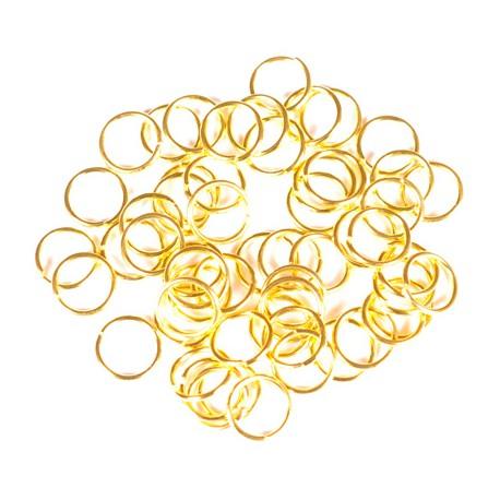 Žiedeliai metaliniai, aukso sp. 5 x 0,5 mm - 100 vnt