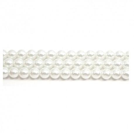 Preciosa stikliniai perlai (baltos sp.) 4 mm - 10 vnt