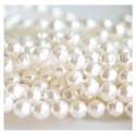 Preciosa stikliniai perlai (baltos sp.) 6 mm - 10 vnt