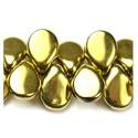 Pip karoliukai (aukso sp) 5/7mm - 10 vnt