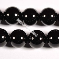 Agatas (juodas), apvalus 10 mm.