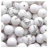Jaspis (baltas), apvalus briaunuotas (deimant.šlif.) 8 mm (1 vnt.)