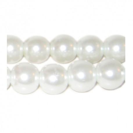 Hematitas baltas magnetinis (perlų sp.) 8 mm. - 1 vnt.