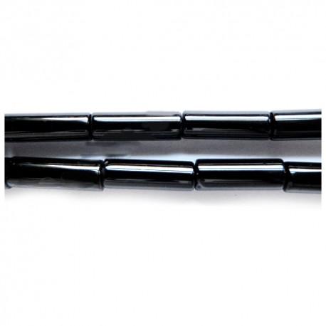 Agatas (juodas), ilgi cilindrai 6*12 mm. 1 vnt.