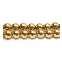 Hematitas (aukso sp.) 10 mm. - 1 vnt.