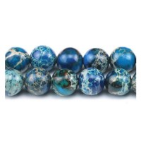 Variscitas mėlynas apvalus 4 mm. vėrinys