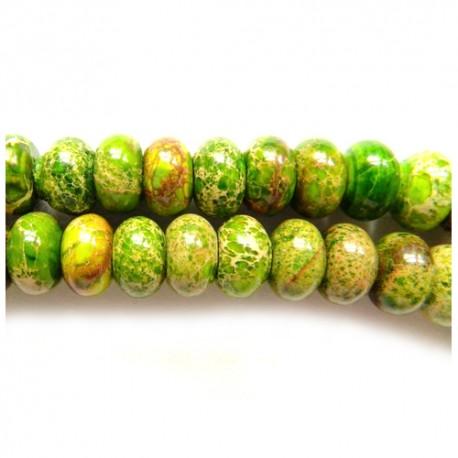 Variscitas žalias, rondelė 10*4 mm. 1 vnt.