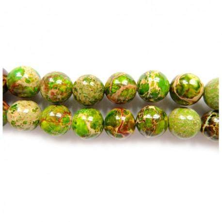 Variscitas žalias apvalus 10 mm. 1 vnt.