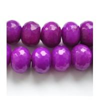 Nefritas purpurinis, briaunuota rondelė 12*16 mm. 1 vnt.