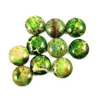 Variscitas žalias, kabošonas apvalus 20 mm.