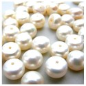 Gėlavandenio perlo kabošonas (pusiau gręžtas) 8 mm.