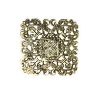 Ažūrinė plokštelė kvadratas 39 x 0,5 mm bronzos sp. 1 vnt.