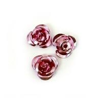 Rožytės metalinės rožin. sp. 10 mm - 30 vnt.
