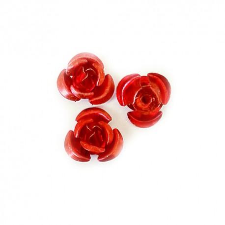 Rožytės metalinės raud. sp. 10 mm - 30 vnt