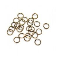 Žiedeliai metaliniai, bronzos sp. 5 x 0,5 mm - 100 vnt