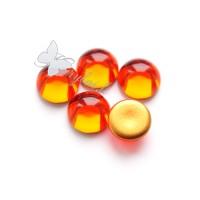 Čekiško stiklo kabošonas oranžinis 13 mm, 1 vnt.