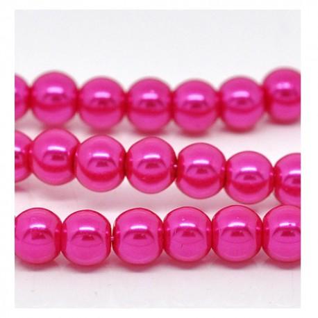 Stikliniai perlai rožinės sp. 10 mm, 1 vnt.