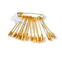 Žiogeliais aukso spalvos 30 mm,  11 vnt. pakuotė