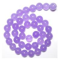 Nefritas purpurinis, apvalus 4 mm. 40 cm. vėrinys