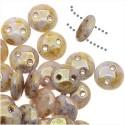 Lentil karoliukai (marmuro sp) su 2 skyl., 6 mm, 10 vnt.