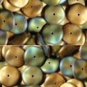 Preciosa Ripple™ (žalios - auksinės sp. matiniai) 4/6 mm. - 10 vnt.