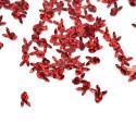 Žvyneliai raudonos sp. zuikio formos, 5 gr. 7x4mm