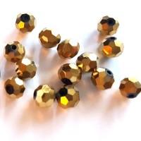 Kristalai apvalūs briaunuoti , aukso sp., 1 vnt.
