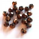 Kristalai apvalūs briaunuoti , tamsiai rudos sp., 1 vnt.