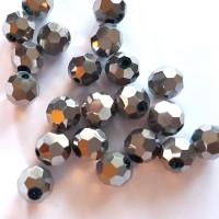 Kristalai apvalūs briaunuoti , sidabro sp., 1 vnt.