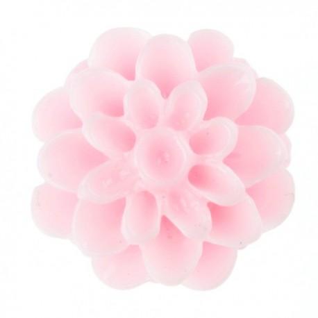 Akrilinė gėlytė kabošonas šviesiai rožinės sp. 15mm