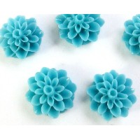 Akrilinė gėlytė kabošonas mėlynos sp. 15mm