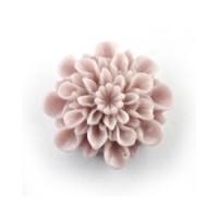 Akrilinė gėlytė kabošonas blankiai rožinės sp. 15mm